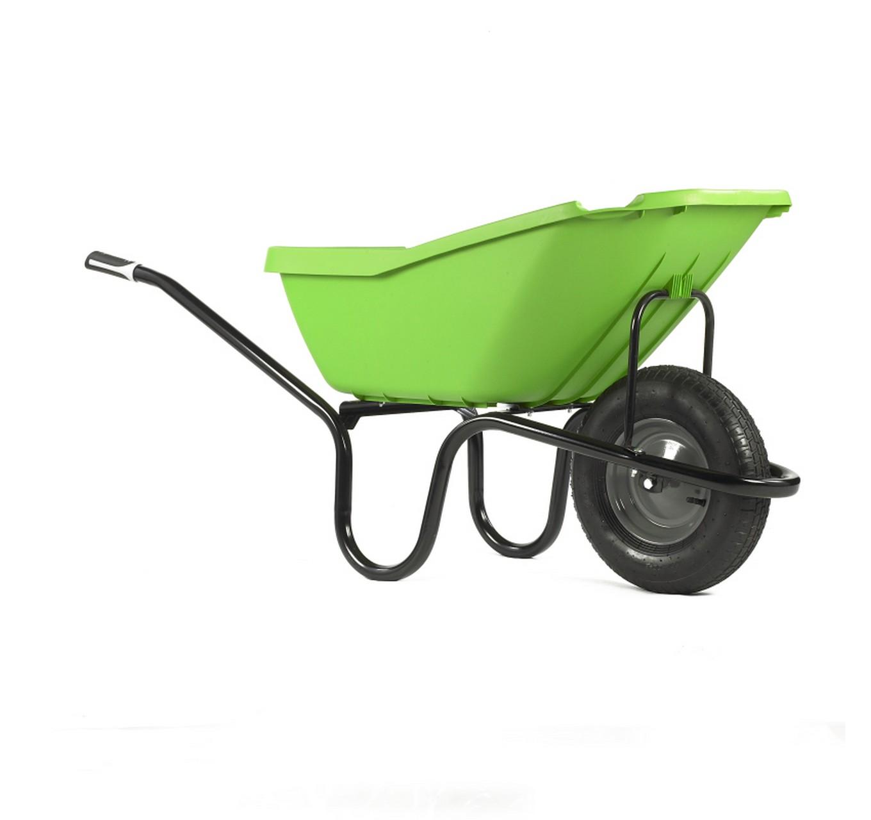 110ltr Green Poly Wheelbarrow