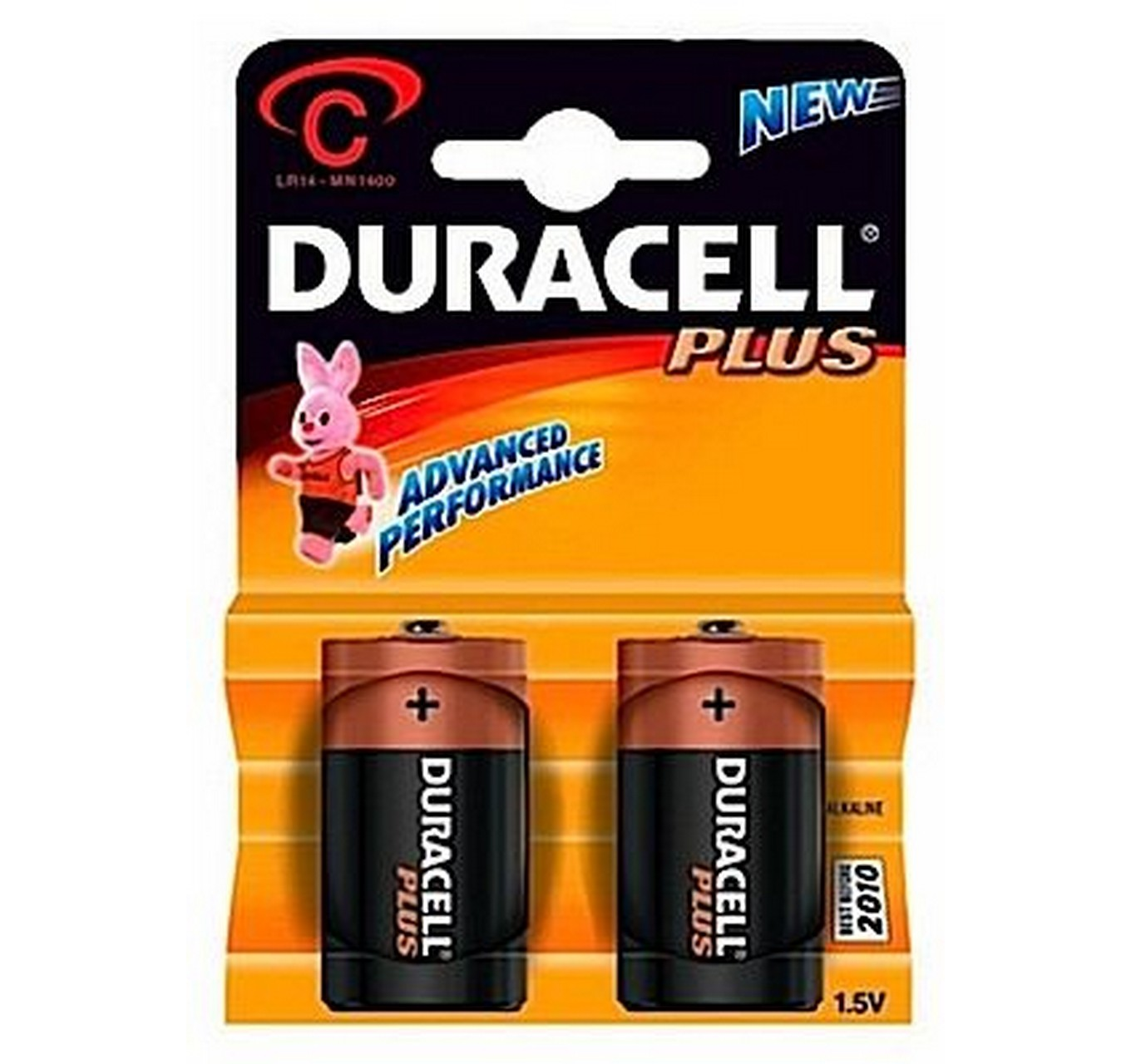 Duracell Plus C Cell 2pk