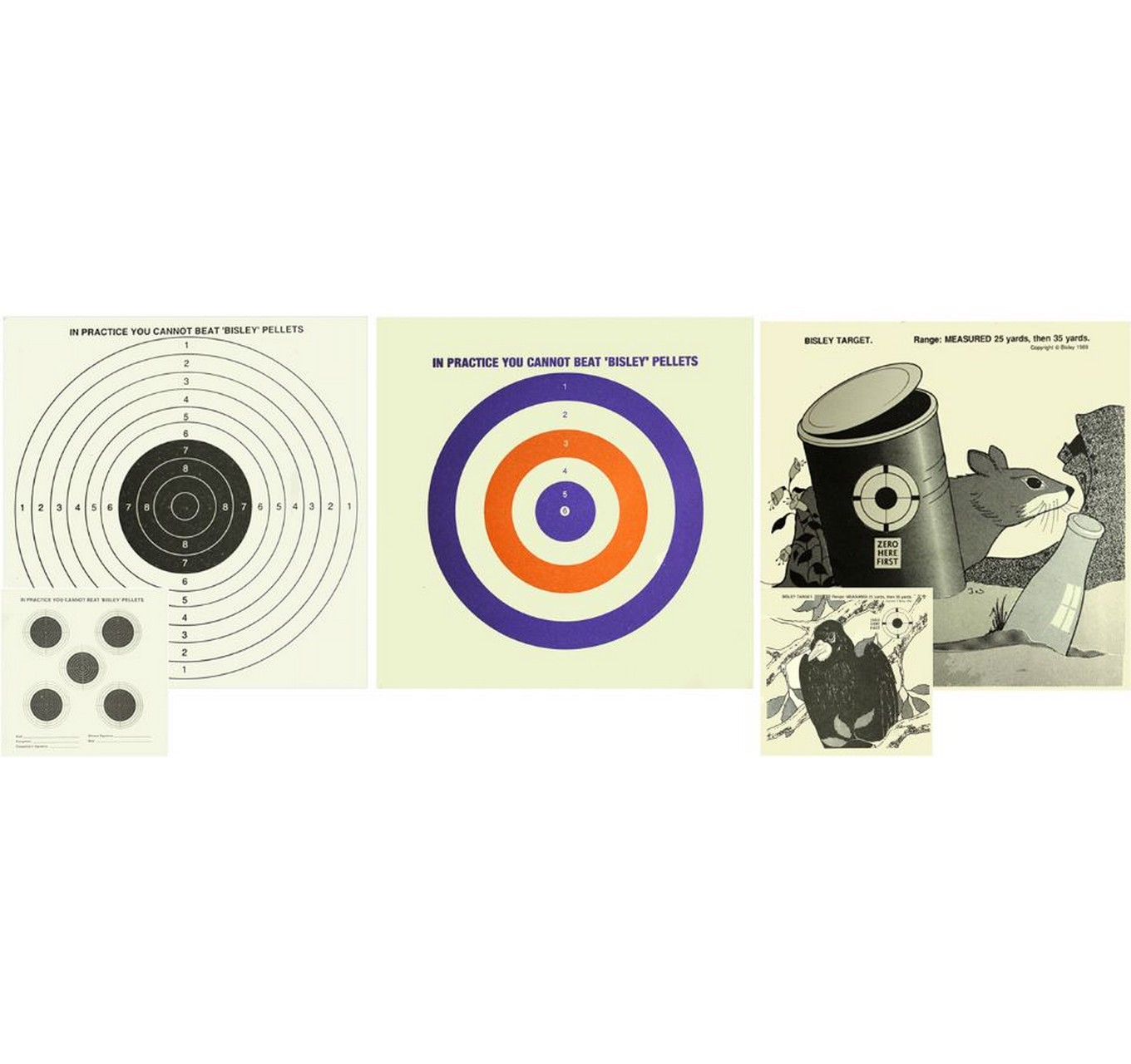 Coloured Targets 25pk