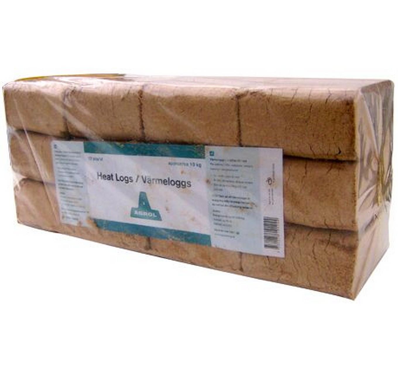 Heat Logs 100% Birch 10kg/12pk