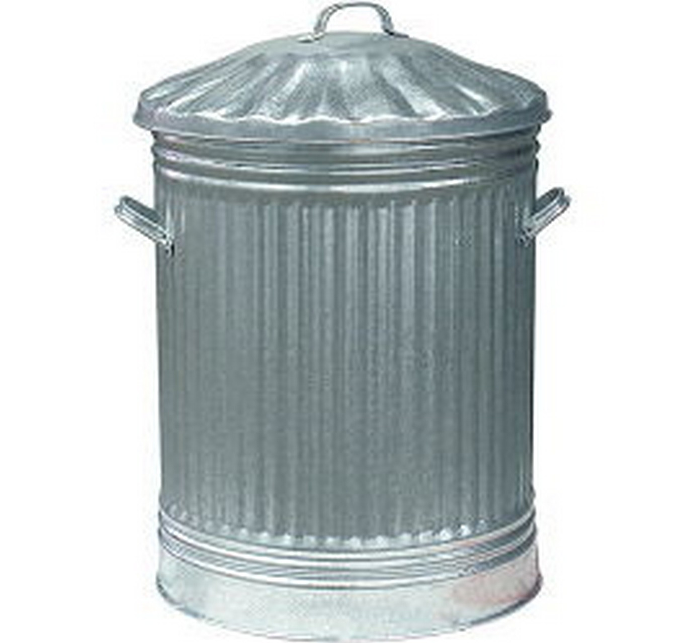 Apollo Dustbin Galvanised Amp Lid 80l Bins Bags