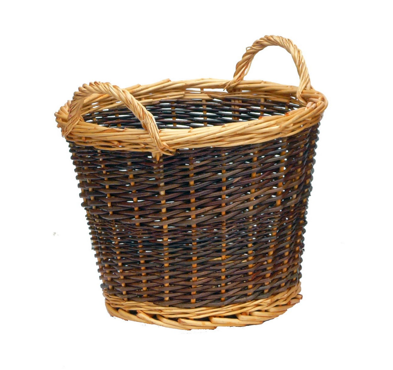 Duo Tone Log Basket - Small