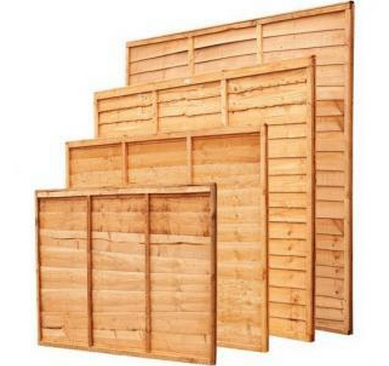 6x5ft Waney Lap Fence Panel
