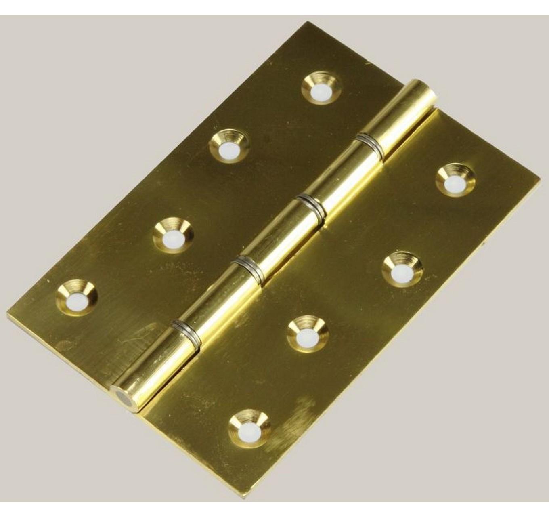 Brass Door Hinges 102x76mm 3pk