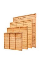 6x6ft Waney Lap Fence Panel