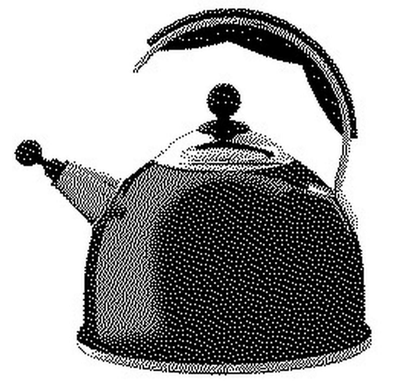 Black Whistling Kettle 2.2ltr
