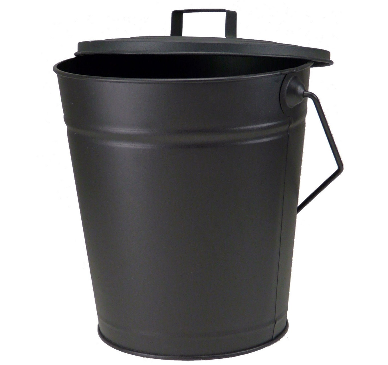Dudley Bucket With Lid - Black