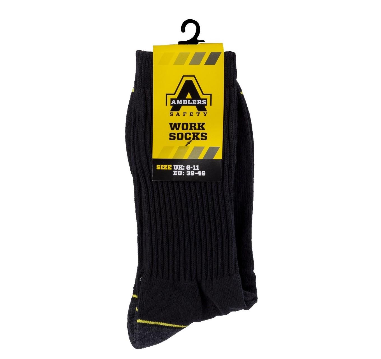 Amblers Work Socks 6-11 3pk