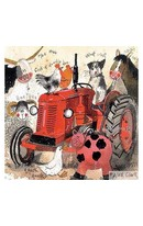 Card - Big Red Tractor