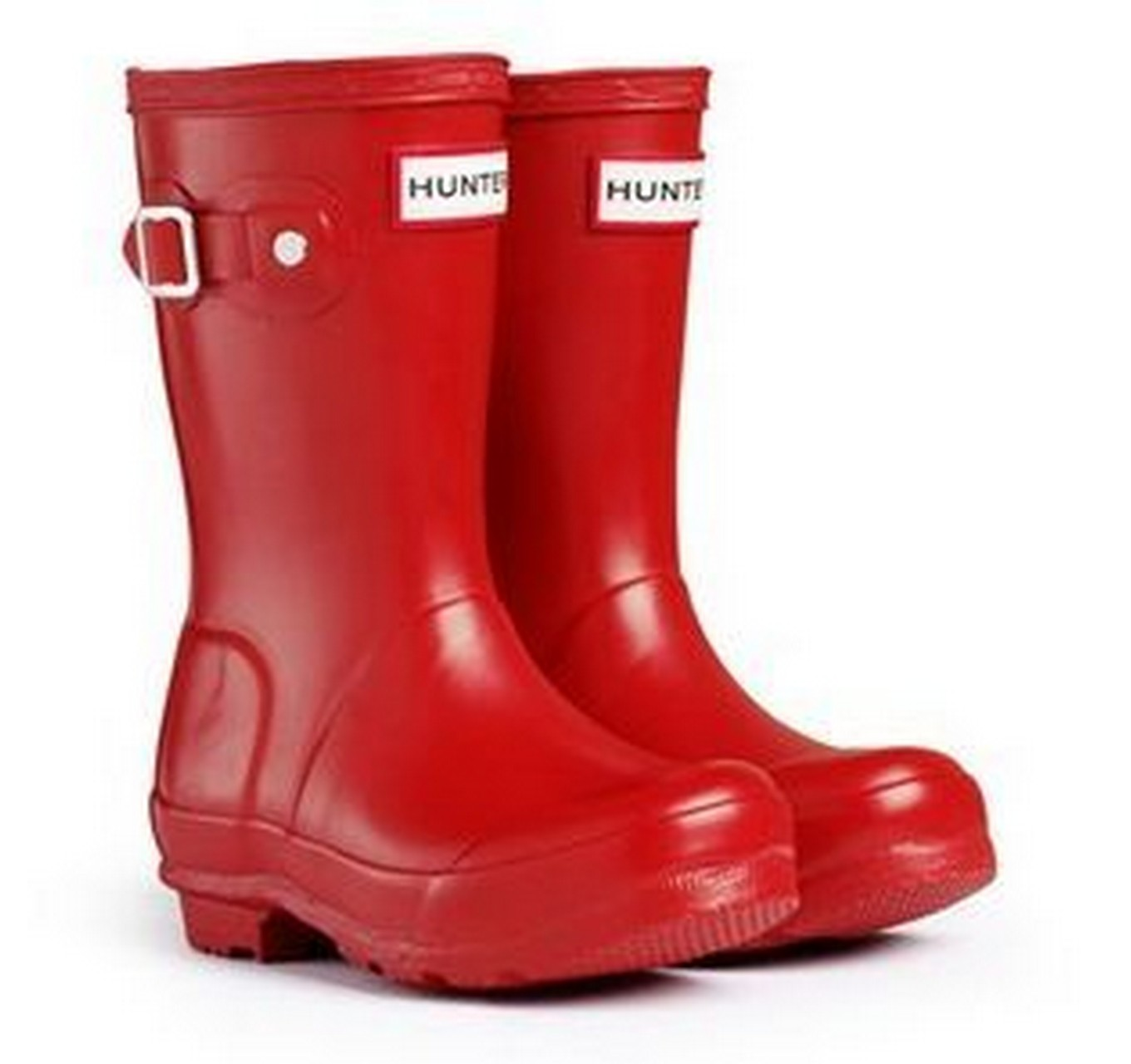 Hunter Kids Boots Red 1