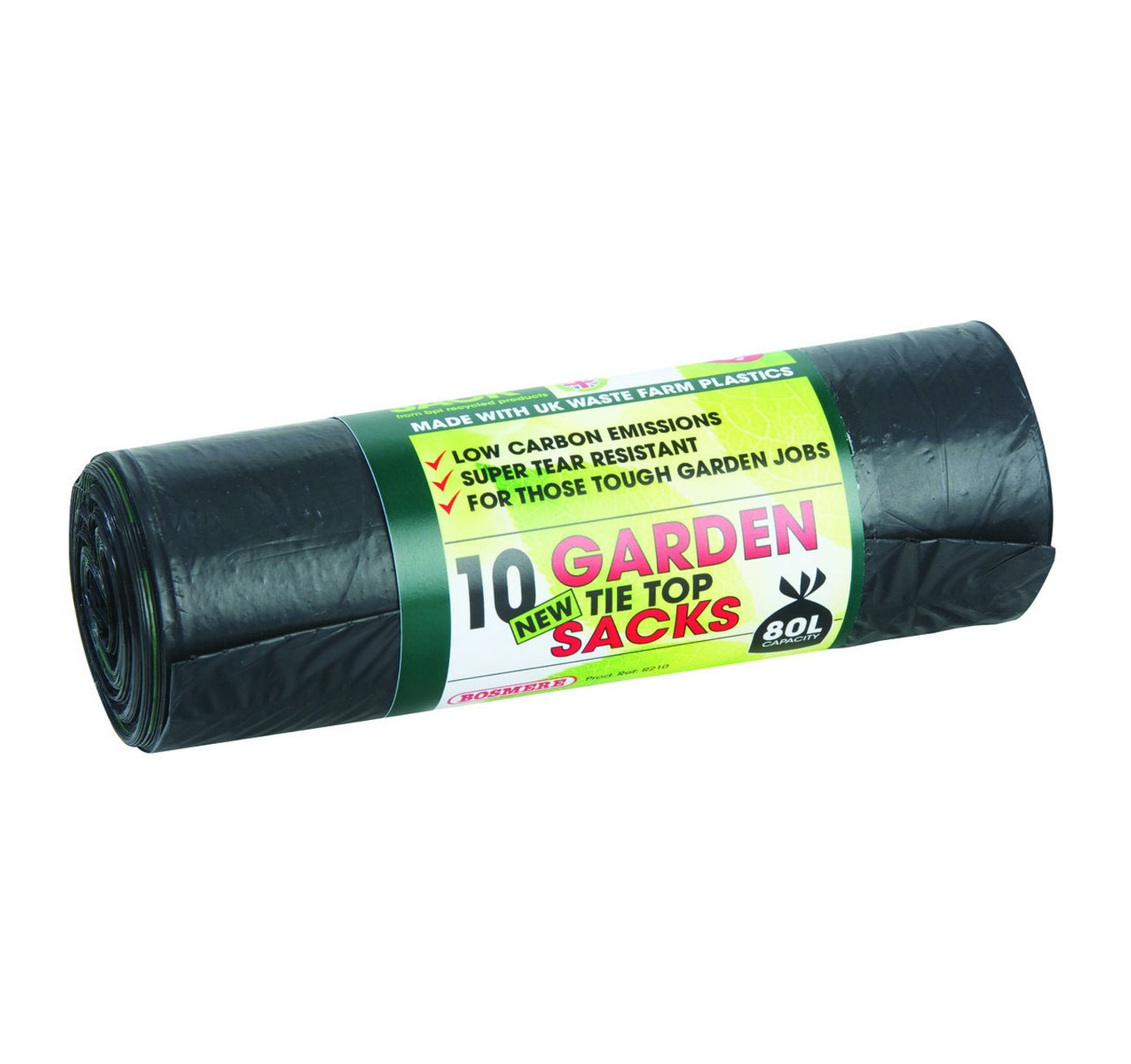 Garden Tie Top Black Bags 10pk