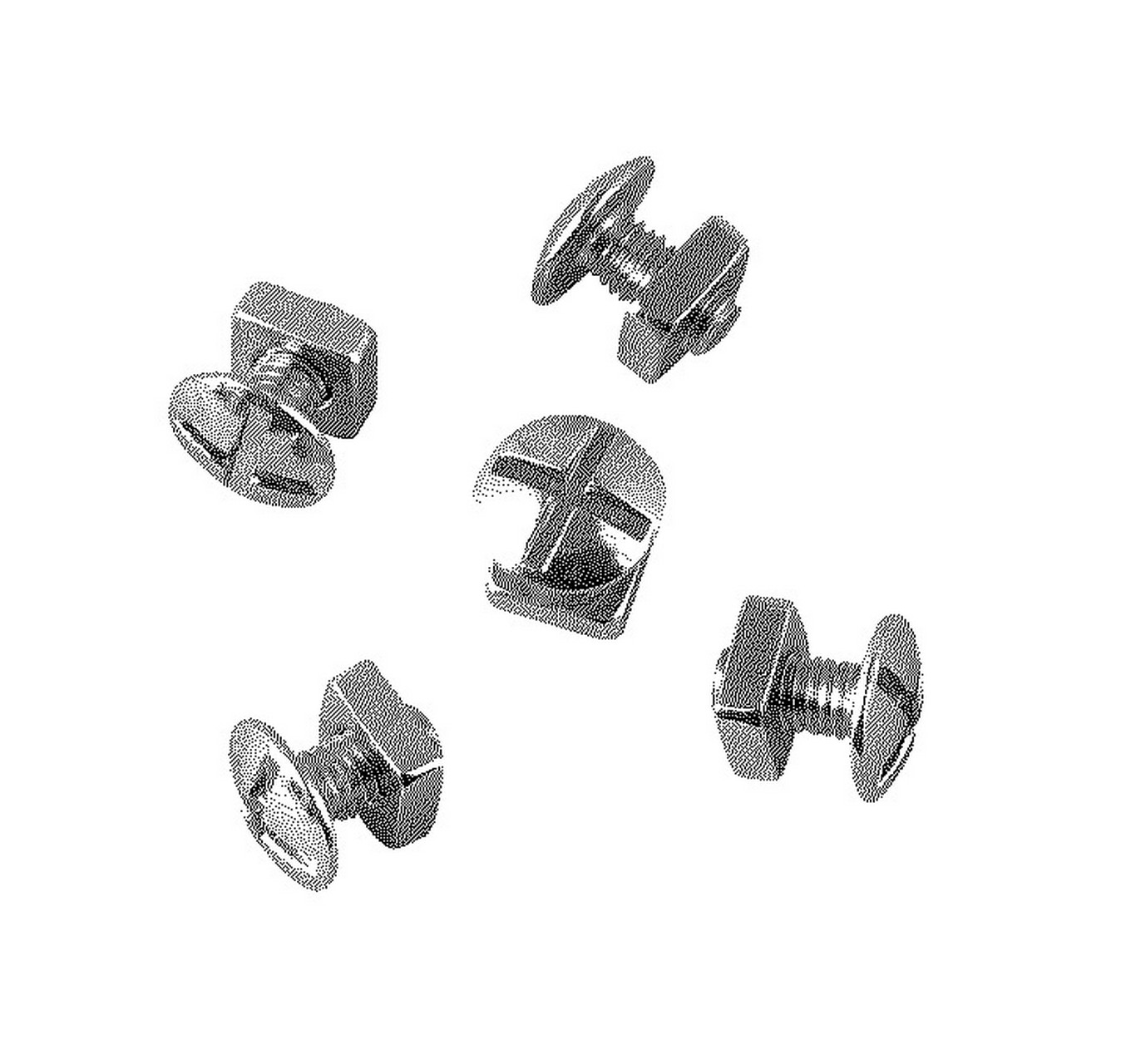 Roofing Bolts BZP M6x12mm 50pk