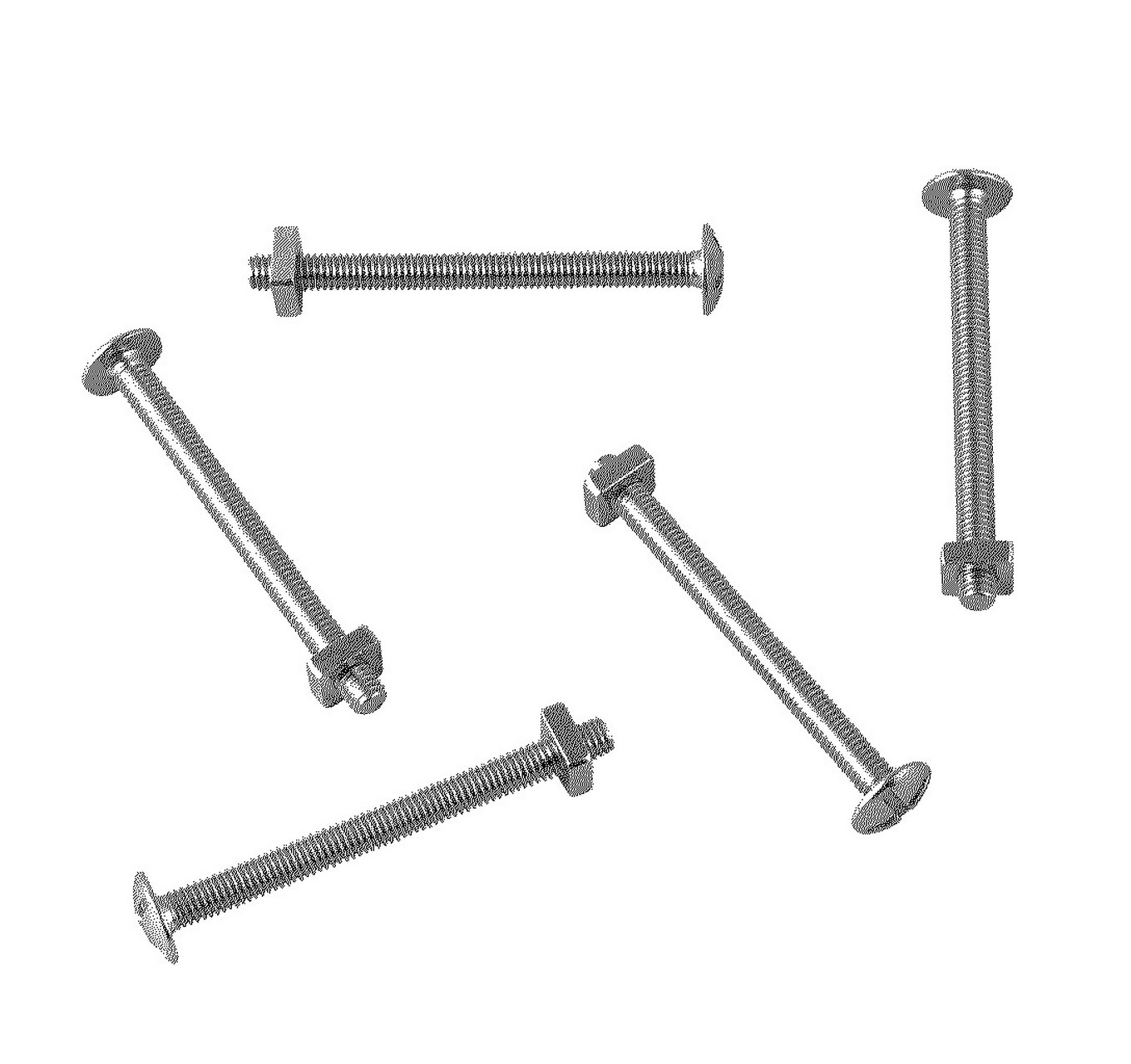 Roofing Bolts BZP M6x70mm 25pk