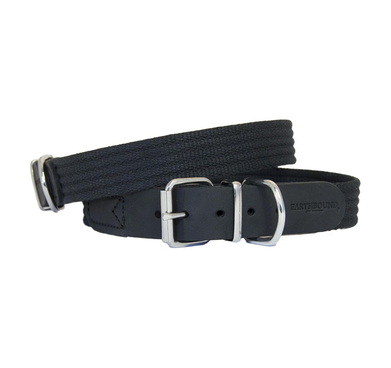 Black Cotton Collar 25mm (s)