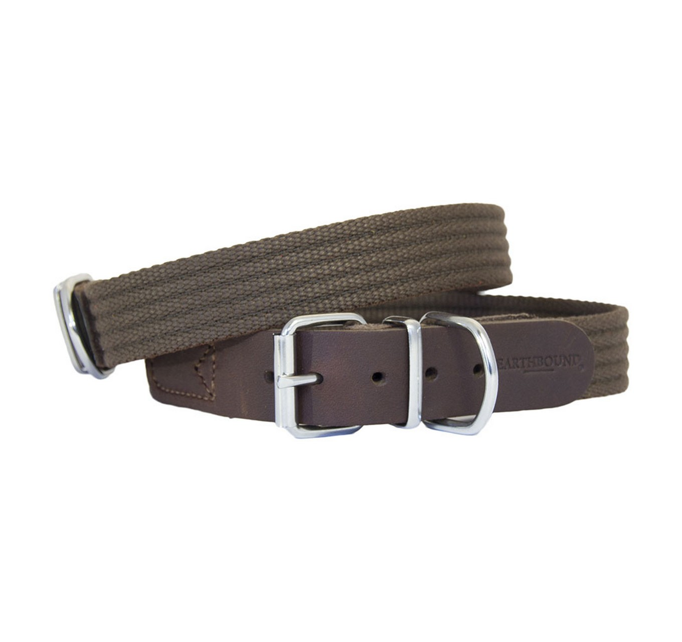 Brown Cotton Collar 25mm (s)