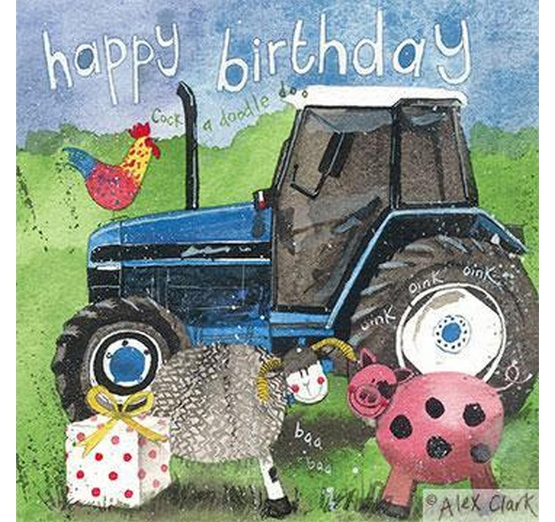 Birthday - Tractor & Present