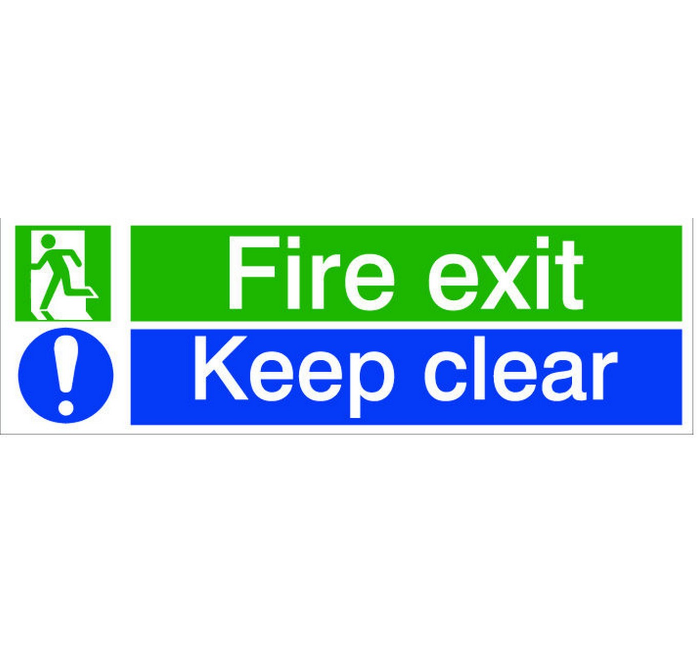 Fire Exit Keep Clear 8x12.5cm