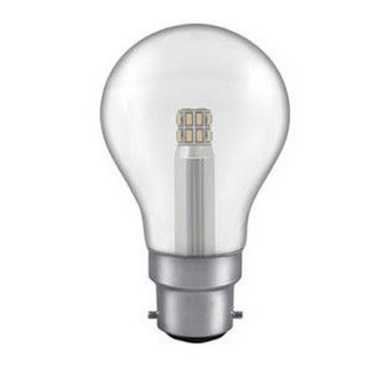 5w BC GLS LED Clear Light Bulb