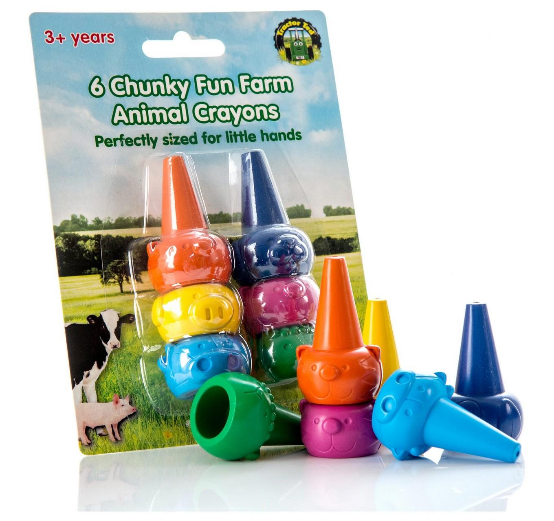 Farm Animal Crayons - 6pk