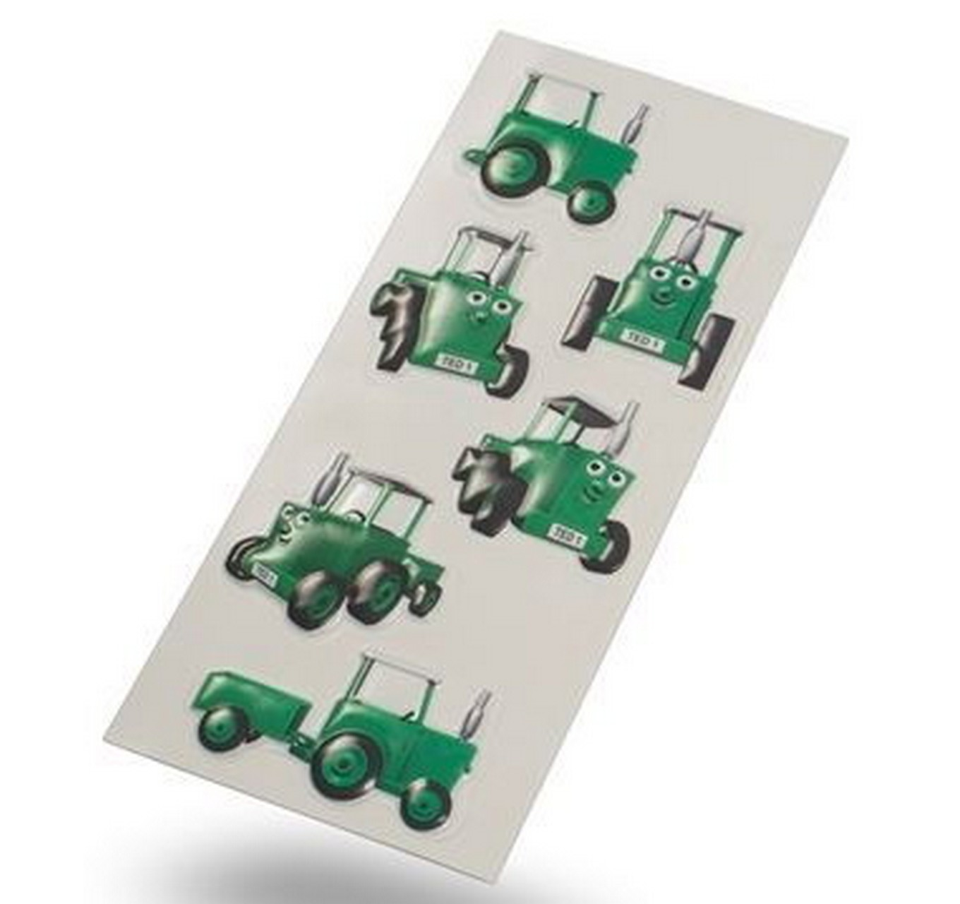3D Tractor Ted Stickers