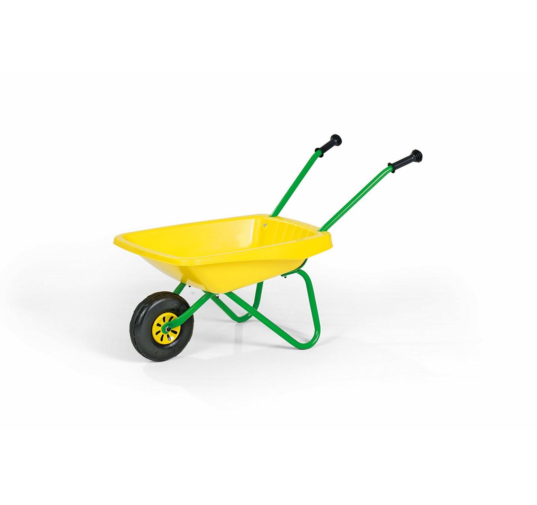 Yellow Plastic Wheelbarrow