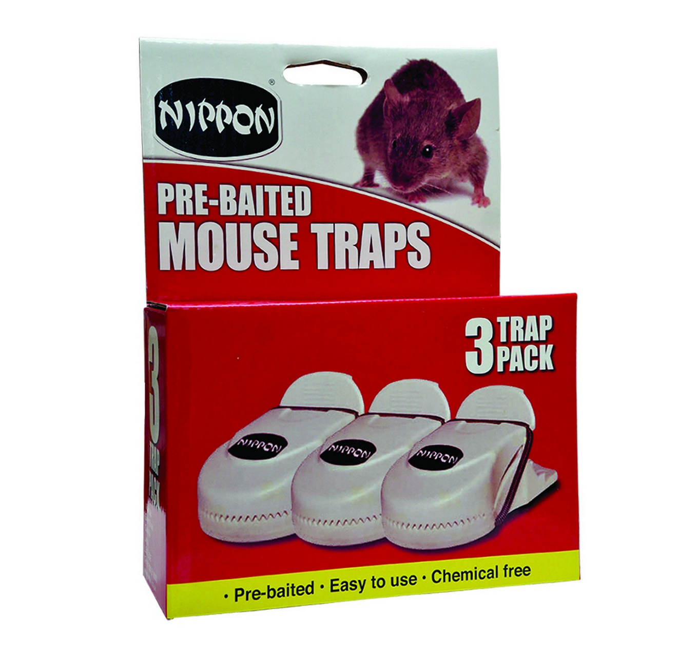 Pre-Baited Mouse Trap 3pk