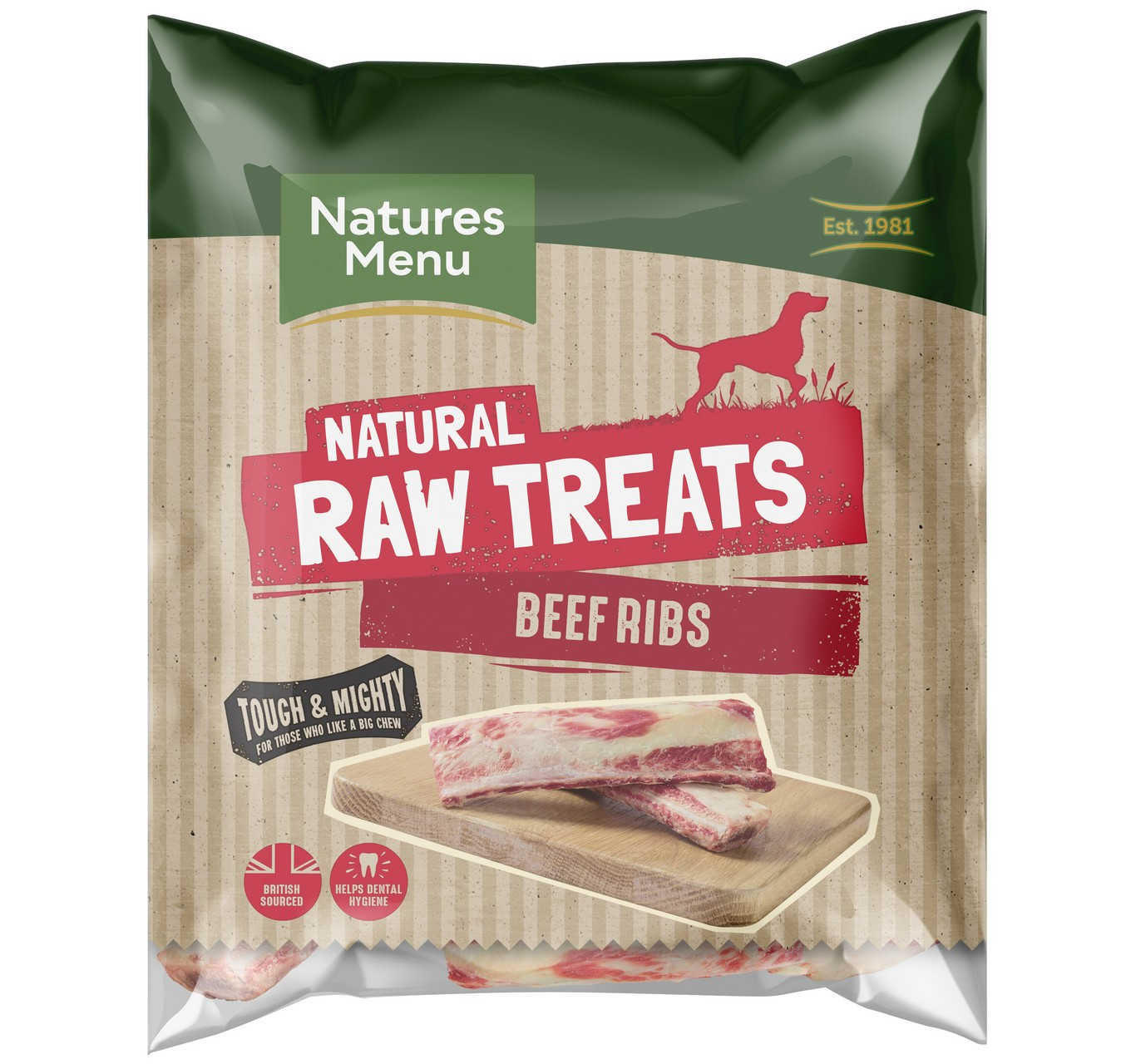 Raw Beef Ribs Chews - 2 Pack