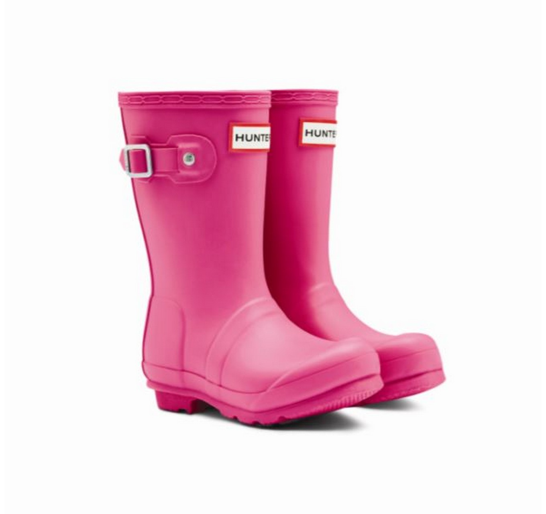 Hunter Kids Boots Fuschia 4