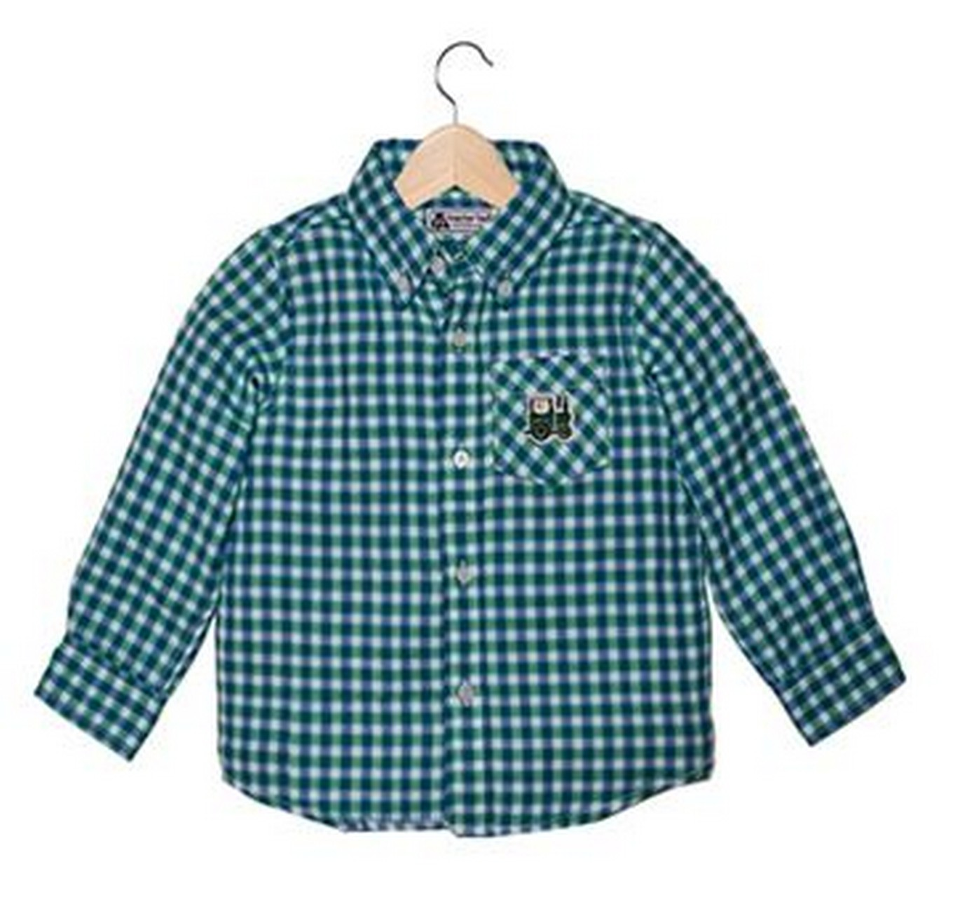 Check Shirt Green 5-6 Yrs