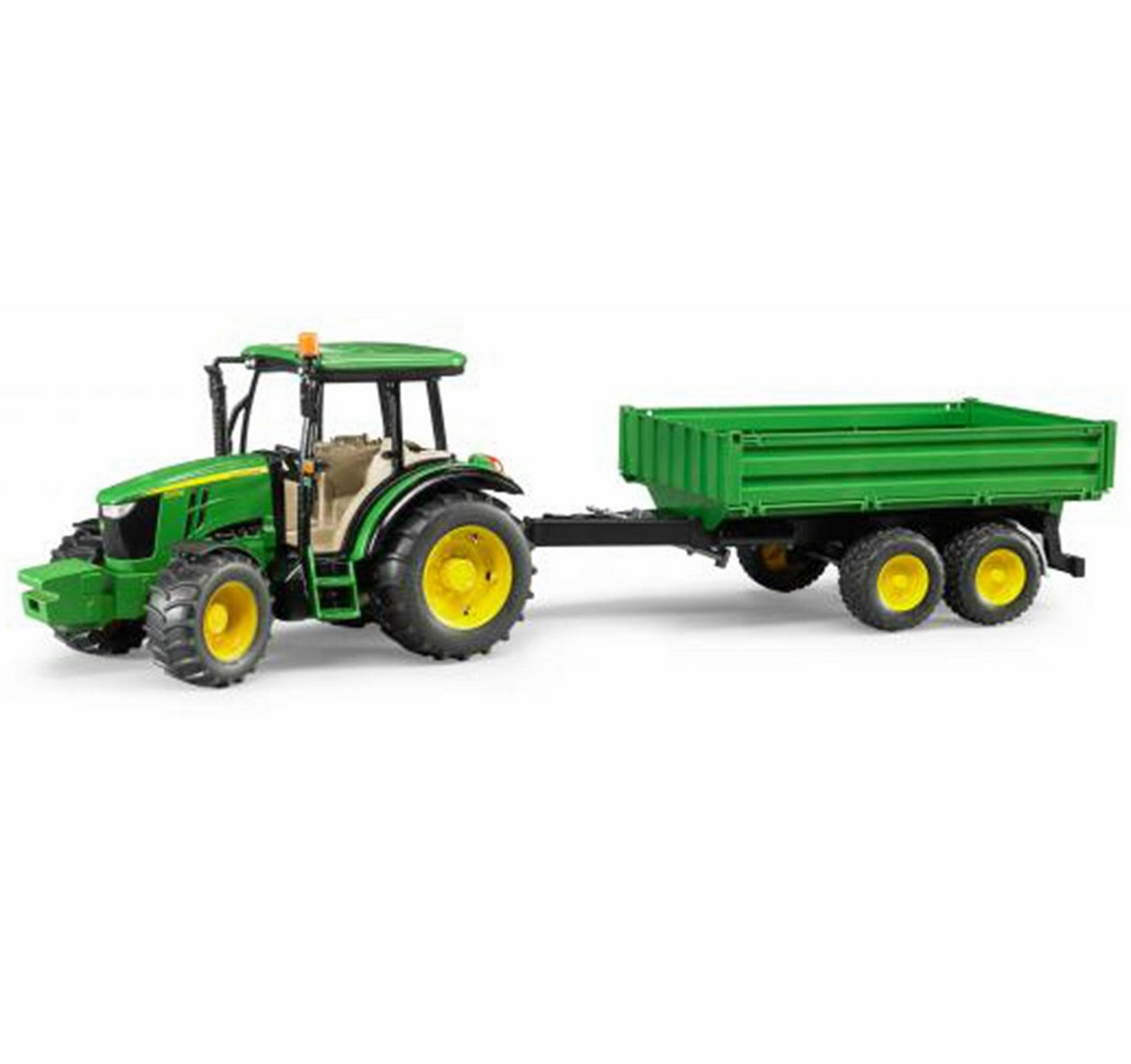 John Deere 5115M with Trailer
