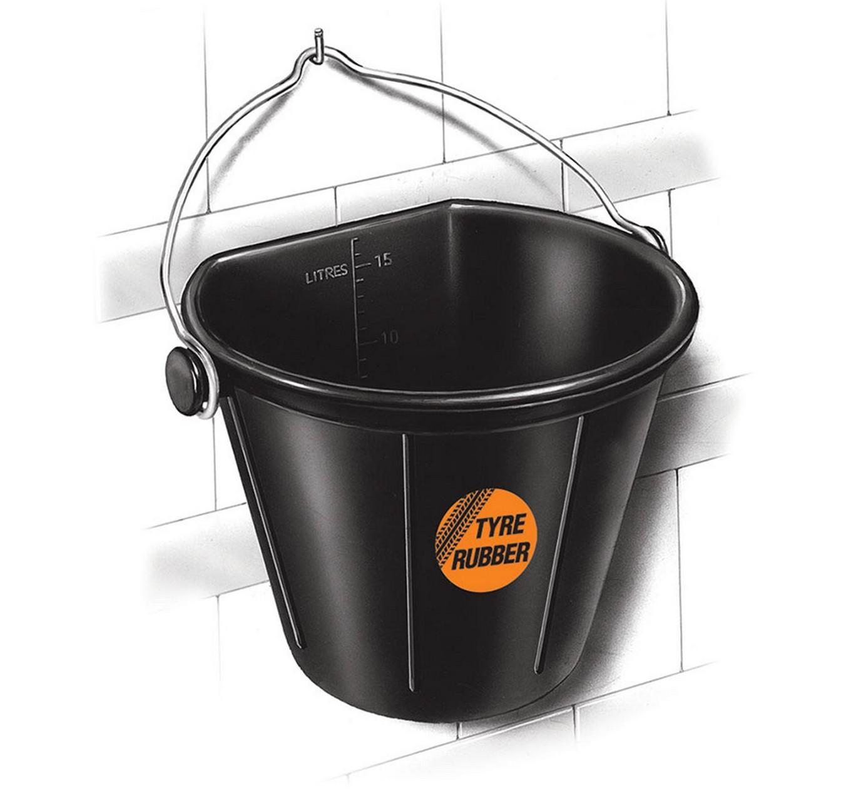 Flat Back Rubber Bucket 17L