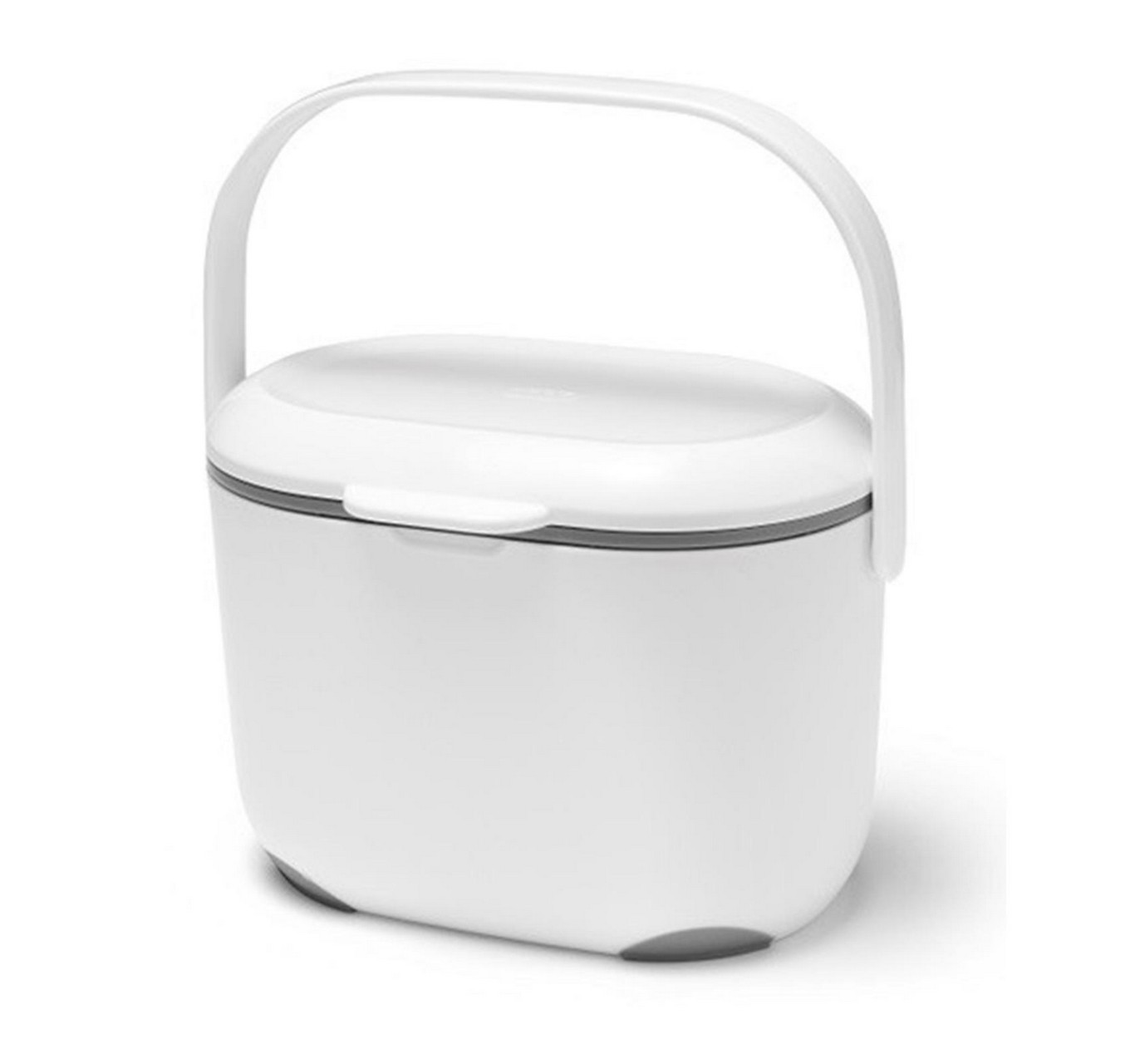 Compost Caddy White & Metallic
