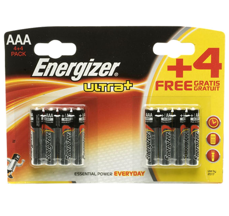 Energizer AAA 4pk + 4 FREE