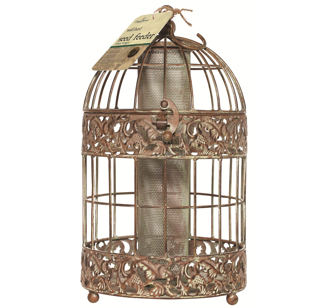 Antique Verd Seed Feeder