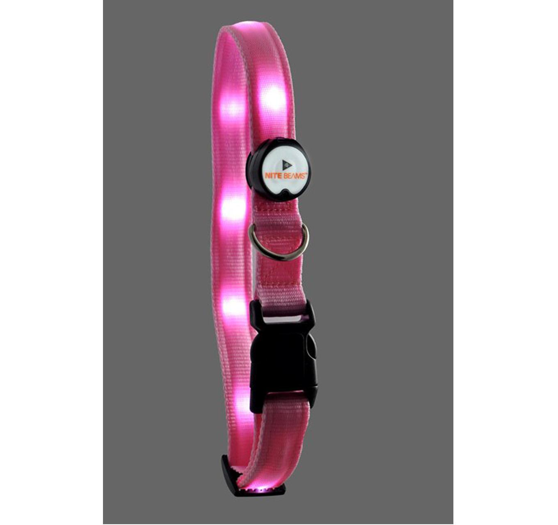 LED Collar Pink Large 19
