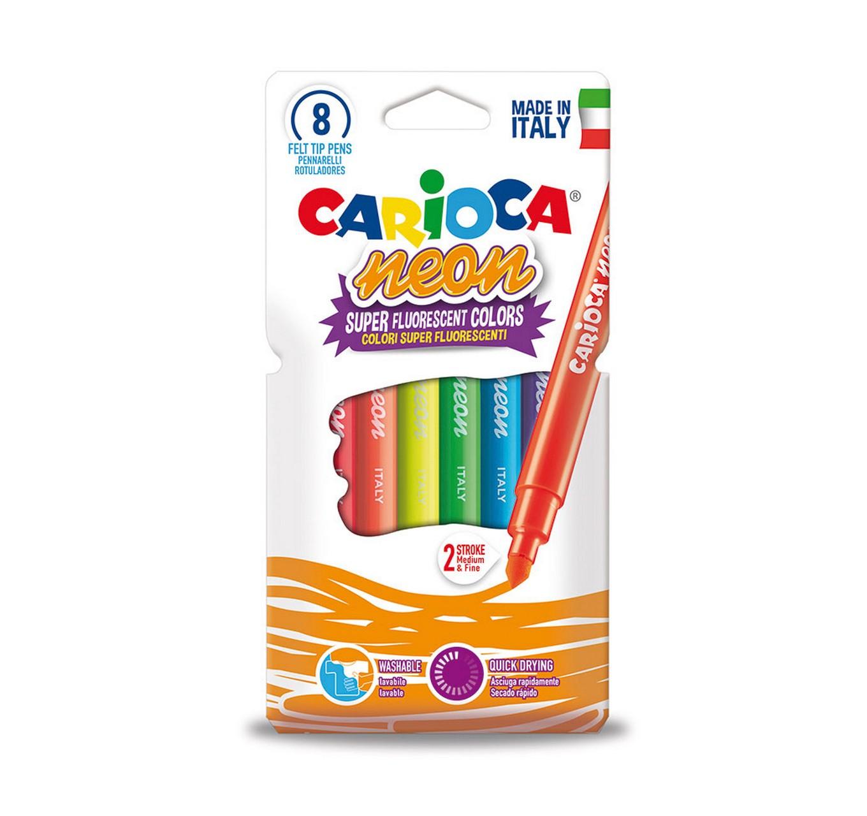 Neon Felt Tip Pens 8pk