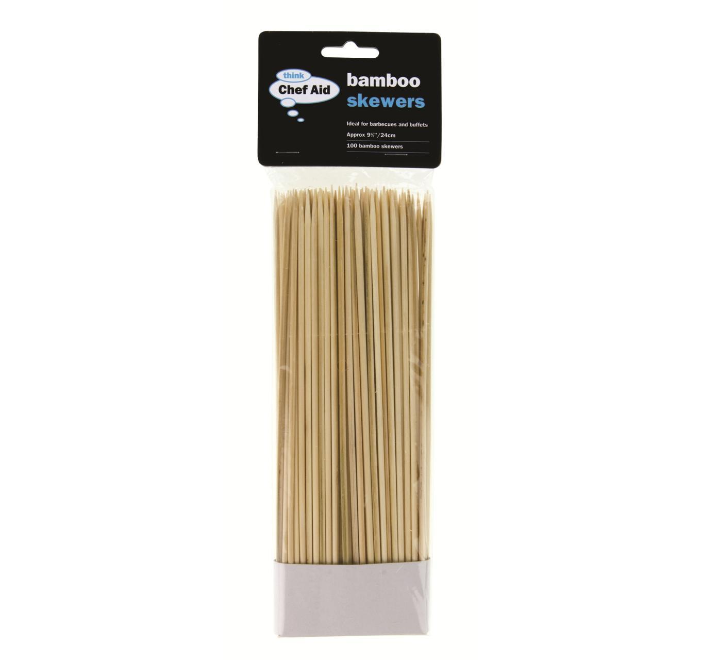 Bamboo Skewers 25cm 100pk