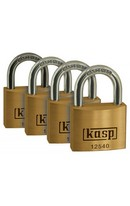Brass Padlock 40x225mm - 4pk