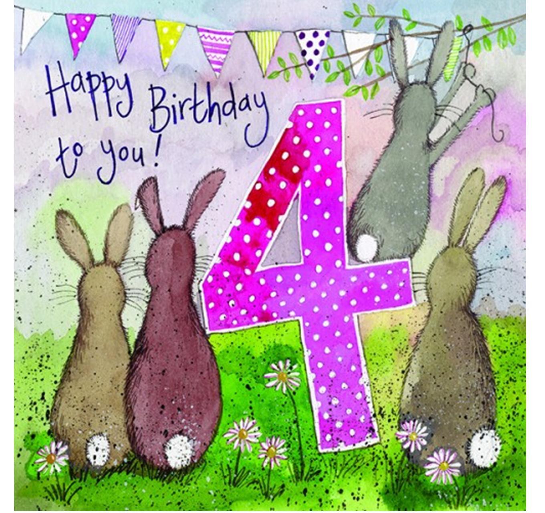 Birthday - Four Bunnies
