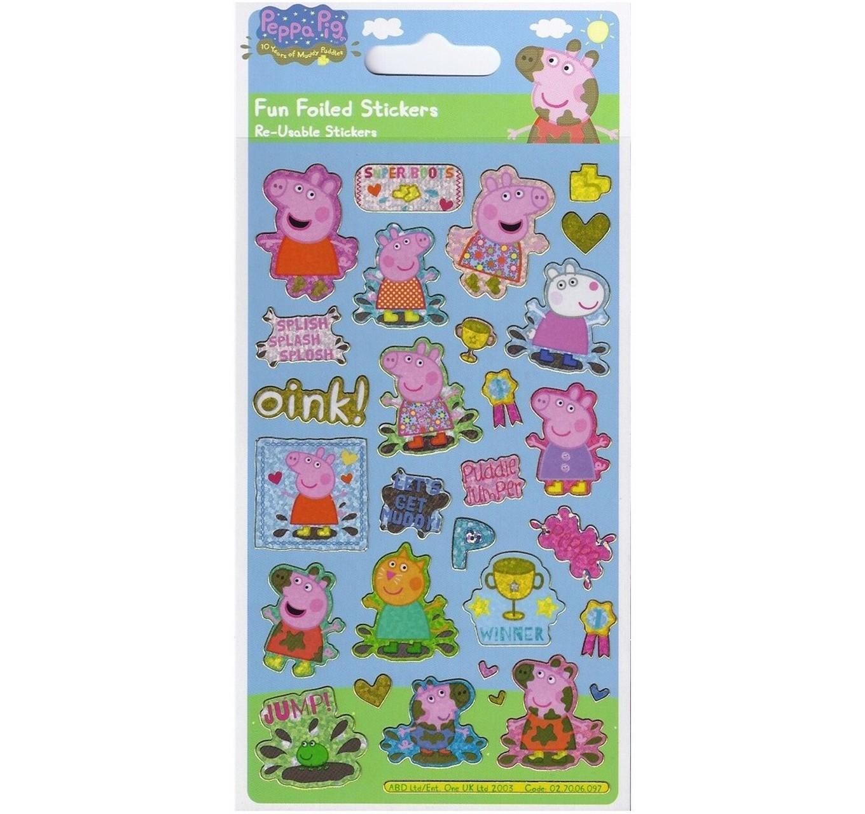 Peppa Pig Foil Stickers (S)