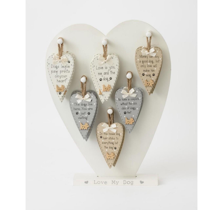 Dog Hearts Mini Signs - Each
