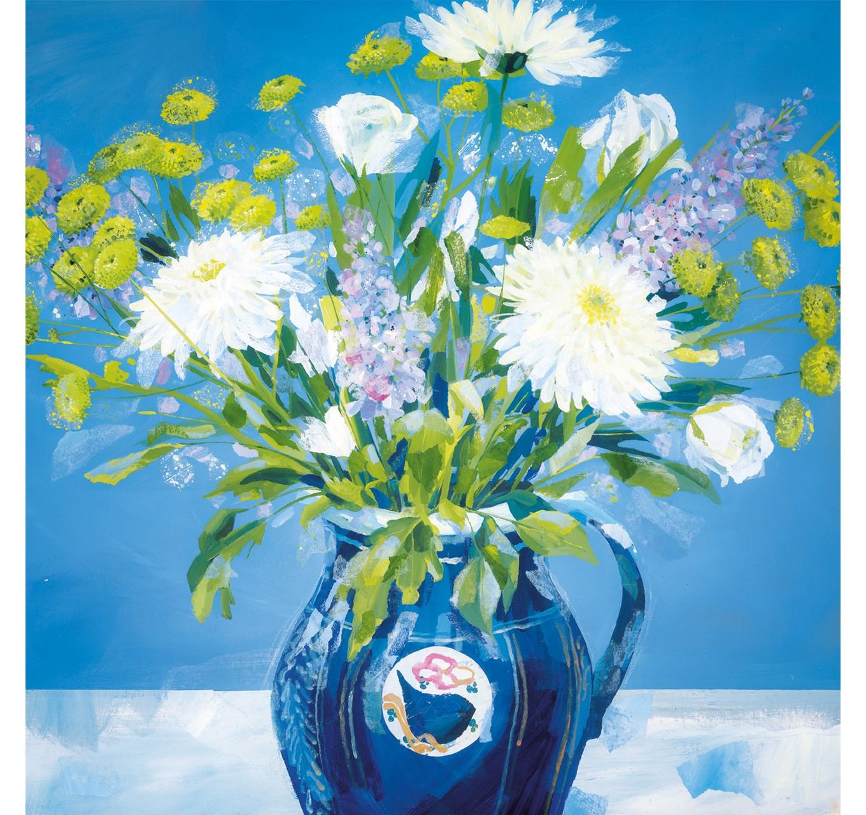 Blue Vase - Card