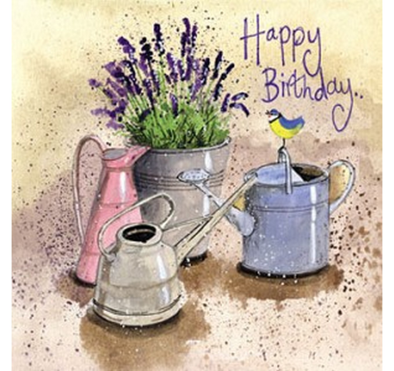 In The Garden Birthday Card