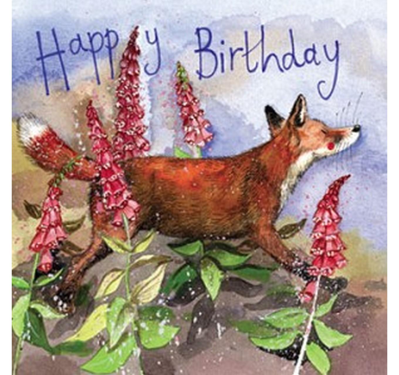 Birthday - Fox & Foxgloves