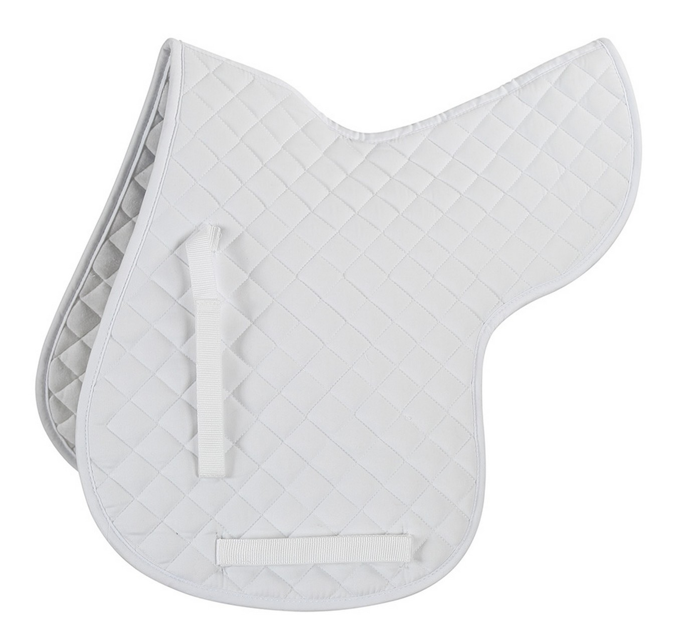 Quilted Numnah White Cob