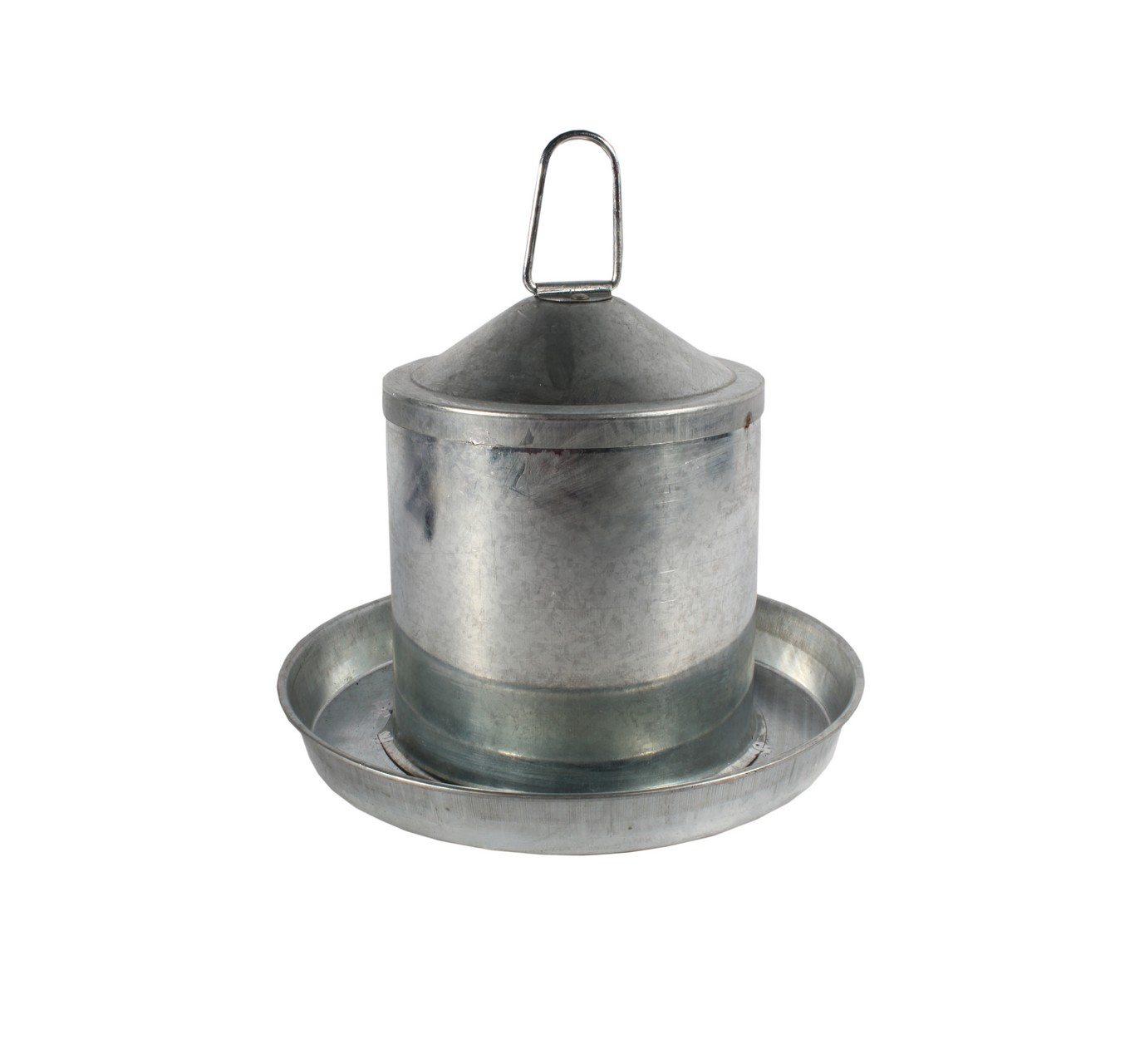 Galvanised Poultry Drinker 2L
