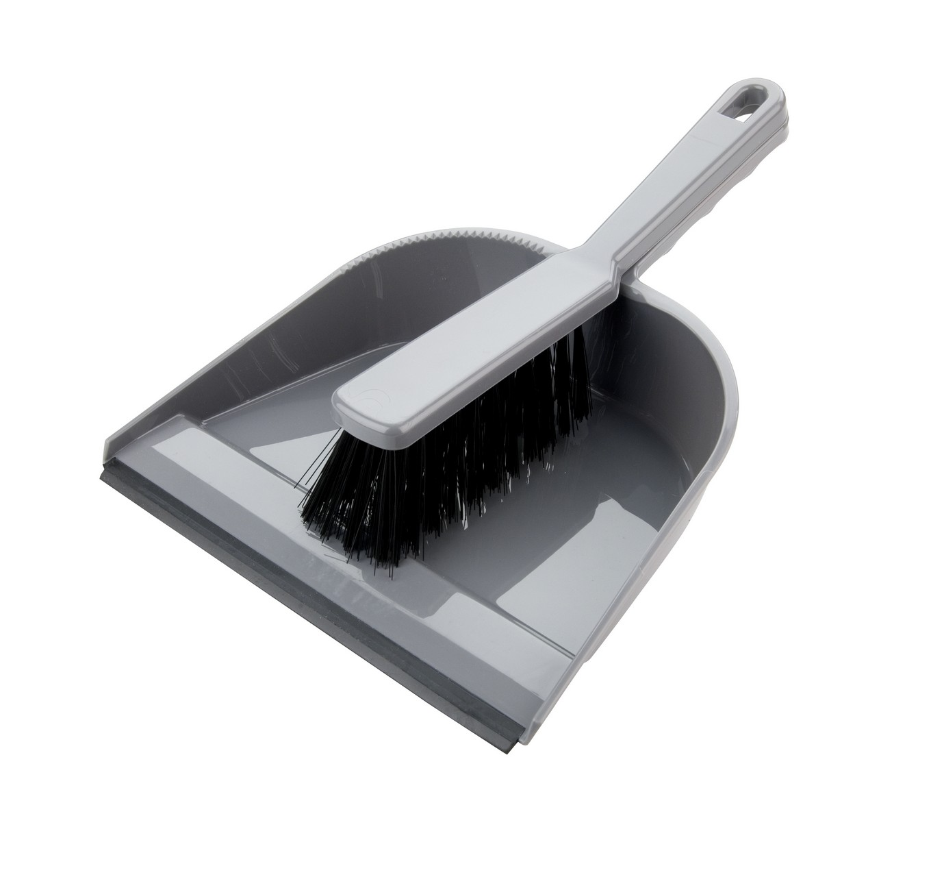 Silver Stiff Dustpan/Brush Set