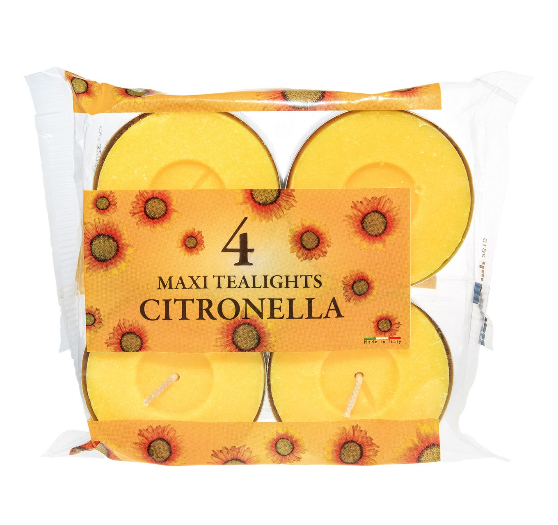 Citronella Maxi Tealights 4pk