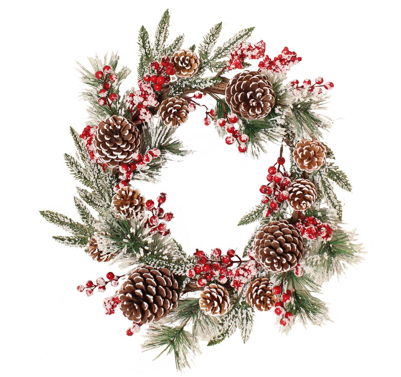 Snowberry Wreath 55cm