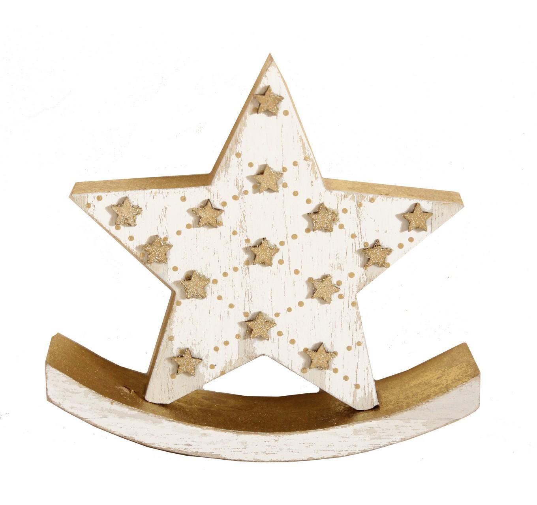 Gold Sparkle Rocking Star